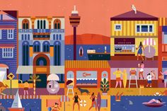 Portfolio of Lotta Nieminen. City Illustration, Pattern Illustration, Digital Illustration, Lotta Nieminen, Elle Mexico, Halftone Pattern, Illustrations And Posters, Drawing For Kids, Architecture Art