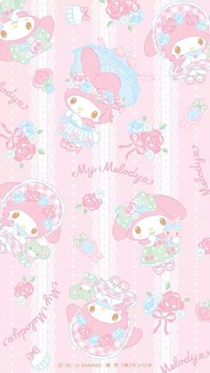 マイメロディ10 iPhone壁紙 Wallpaper Backgrounds iPhone6/6S and Plus  My Melody iPhone Wallpaper