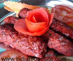 Indian kababs recipes with pictures. Pakistani kebab, Seekh kabab, tandoori and grill kabab recipes.