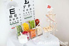 Doctor Nurse themed birthday or graduation party via Kara's Party Ideas www.KarasPartyIdeas.com-14