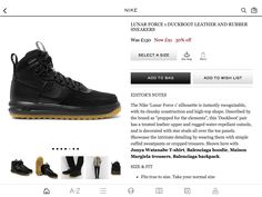 Nike - Lunar Force 1 Duckboot Leather and Rubber Sneakers | MR PORTER  https:/