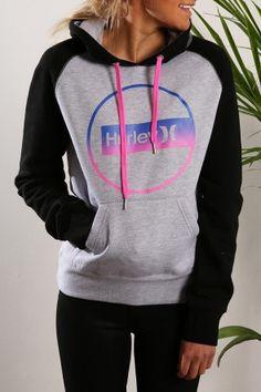 Hurley - Construct Pop Fleece Heather Grey $79.99 Shop // http://www.jeanjail.com.au/ladies/hurley-construct-pop-fleece-heather-grey.html