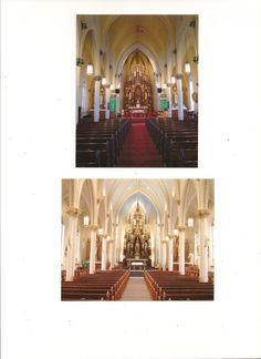 Before and After of Gothic Church Remodel / Restoration design idea as seen on www.interiordesignpro.org