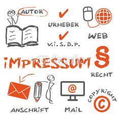 Impressum, copyright, Urheber