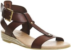 300664826 The Hadley leather Sandals by OFFICE feature a t-bar strap