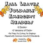4 fall foldable emergent readers for $1!  Easy to use- no prep!  Will boost student confidence as readers, review color words and sight words!