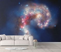 Galaxy Wallpaper - Canvas Wall Decal / 1 roll: 24W x 96H