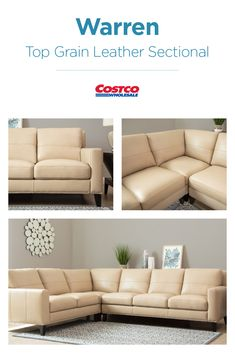 Where Classic Tradition Meets Designer Style The Warren Top Grain Leather Sectional By Abbys Fabric Sectional Sofas Modern Sofa Sectional White Sectional Sofa