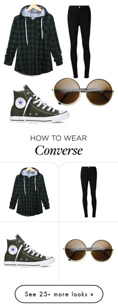 """""""Untitled #280"""" by one-528 on Polyvore featuring AG Adriano Goldschmied, Converse, women's clothing, women's fashion, women, female, woman, misses and juniors"""