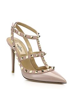 Valentino Patent Leather Rockstud Slingback Pumps $995 FP different colors