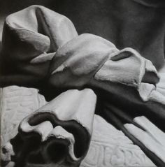 "Taisuke Mohri, ""The Resurrections: Donatello's St.George(1416)#2"", pencil on paper, 80.3×65cm,2014 (detail)"
