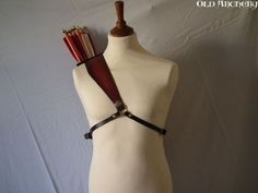 "Leather back quiver ""Celtic Boary"" on Etsy, $195.09"