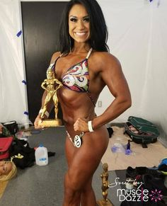 Honored to have worked with on this figure suit. Lovely pic too! Dianna is wearing her figure suit. Figure Competition Suits, Posing Suits, Figure Suits, Suits For Sale, Npc Bikini, Bikini Competitor, Women Figure, Bikini Workout, Green Stripes