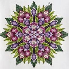 mandala coloring pages finished - Yahoo Image Search Results Mandala Painting, Mandala Drawing, Mandala Tattoo, Dot Painting, Mandela Art, Mandala Pattern, Fractal Art, Doodle Art, Painted Rocks