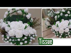 Cara membuat bunga tissue gulung | DIY Amazing beautiful flowers tissue paper - YouTube Paper Flowers Diy, Paper Roses, Diy Paper, Paper Crafts, Diy Home Crafts, Arts And Crafts, Origami, Diy Ribbon, Flower Making