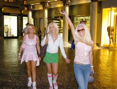 Las Vegas, NV 02/09/06: Bridget Marquardt, Holly Madison, and Kendra Wilkinson The Girls Next Door in the Forum Shops at the Caesars Palace Casino/Resort. Robert Brye, Photographer Courtesy of the Las Vegas New Bureau #theforumshops #thegirlsnextdoor #hollymadison #kendrawilkinson #bridgetmarquardt