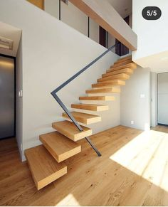 Stair railing ideas - A full directory of interior stair railing ideas, the correct component to utilize according to your stairs Stair Railing Design, Home Stairs Design, Stair Decor, Interior Stairs, Modern House Design, Interior Architecture, Interior Design, Villa Design, Staircase Decoration