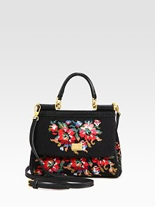 16f8ea13adb7e Dolce   Gabbana - Mini Miss Siciliy Cross-Stitched Top Handle Bag Fall Bags