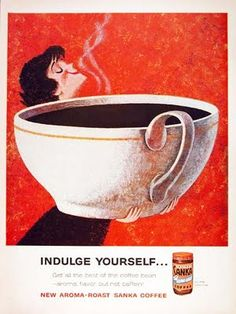 Woman Smelling Giant Cup of Coffee Poster by Pop Ink - CSA Images on AllPosters. Big Coffee, I Love Coffee, Coffee Art, Coffee Cups, Black Coffee, Cheap Coffee, Coffee Barista, Coffee Drawing, Coffee Painting