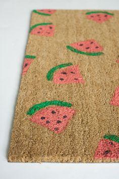 watermelon painted door mat