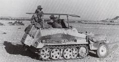 German SdKfz. 250/3 command vehicle in North Africa, 1942-1943