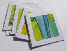 A range of handmade art cards produced from drawings and samples  Size 14cm (h) x 14cm (w)  Price £3 each, 4 for £10  See more at www.kittyhatcher.co.uk