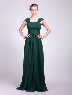 99.00$  Buy here - http://viejh.justgood.pw/vig/item.php?t=cp0muuq53805 - Dark Green cap-sleeves A line Homecoming Dress, Bridesmaid Dress floor-Length 99.00$