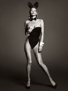 Mert & Marcus for Play Boy 2014 Kate Moss Glamour Photography Black White & Black White #katemoss #fashionqueen #supermodel