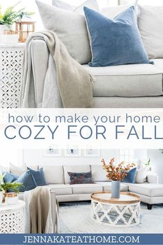 Simple, beautiful and budget friendly decorating ideas to make your house cozy for fall, whether it's fall decor for the living room, bedroom, kitchen or front porch. Modern Fall Decor, Fall Home Decor, Autumn Home, Holiday Decor, Fall Diy, Cozy, House, Furniture, Home