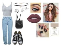 """""""Sunday"""" by isabellasmall on Polyvore featuring Topshop, Converse, Lime Crime, Bella Freud, Humble Chic, Itsy Bitsy and GRETCHEN"""