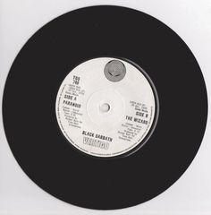 "BLACK SABBATH Paranoid 1970 South Africa Issue Very Rare 7"" 45 rpm Single Vinyl Record 70s Classic Rock Heavy Metal  SSC5639"