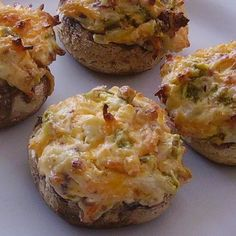 "Hot and Spicy Stuffed Mushrooms | ""Excellent! We LOVED the spiciness of these. """