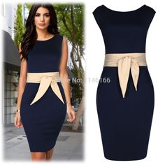 Wholesale Women Ladies Formal Contrast Peplum Business Evening Party Pencil Mini Bodycon Work Pencil Dresses Size SM-XXL 0048