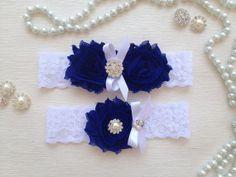 wedding garter set white bridal garter set white lace by venusshop, $19.90