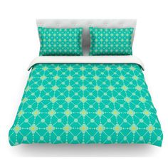 East Urban Home Hive Blooms by Nicole Ketchum Featherweight Duvet Cover Size: