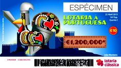 My friend João Monteiro`s creation for the Portuguese Lotery