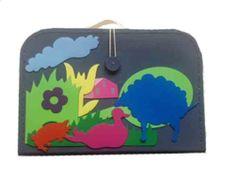 školní kufřík jako magnetická tabule.