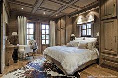 Chalet Combloux chambre avec peau de vache