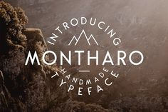 Montharo Typeface + Extras (40% OFF) by Tyfrography on @creativemarket