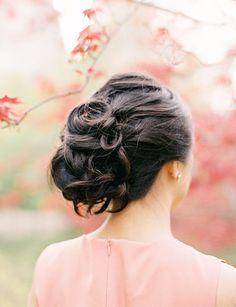 soft curls, wedding updo... photo by Jen Huang