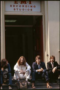 "misanthrope1993: ""The Beatles outside Abbey Road Studios, London, 1969. Photo by Linda McCartney. """