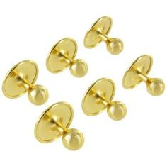 Rio Gold Plated Metal Mens Shirt Studs Collar Buttons Set of 6 - http://www.wonderfulworldofjewelry.com/jewelry/mens-jewelry/mens-shirt-studs/rio-gold-plated-metal-mens-shirt-studs-collar-buttons-set-of-6-com/ - Your First Choice for Jewelry and Jewellery Accessories