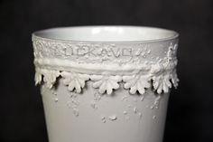 Césare - porcelain decoration by lace Lace Vase, Porcelain, Pure Products, Elegant, Decoration, Classy, Decor, Porcelain Ceramics, Chic