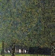 Gustav Klimt, 'The Park' (1910?)  Pointilism    Austrian Symbolist, Art Nouveau, Vienna Secessionist(Prominent) (1862-1918)