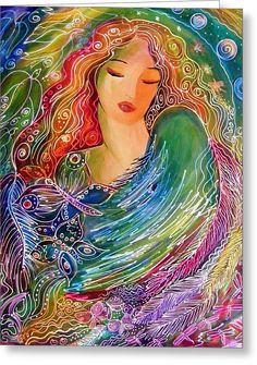Goddess Of Air  2 Greeting Card by Ronnie Biccard