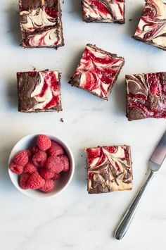 Raspberry Sweetheart Swirl Brownies | superman cooks