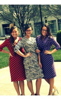 Polka Dot Knee Length Dress - Apostolic Clothing