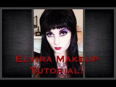 ▶ Elvira Makeup Tutorial for Halloween by CHERRY DOLLFACE - YouTube