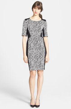 Gabby Skye Leopard Jacquard Sheath Dress available at #Nordstrom