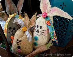 Burlap Bunny Bag Tutorial